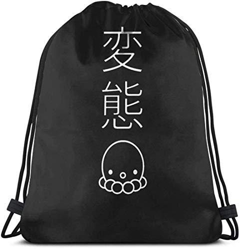 OPLKJ Durarara Kordelzug Rucksack String Bag Sackpack Cinch Bag für Sport Yoga Gym Wandern Travel Beach