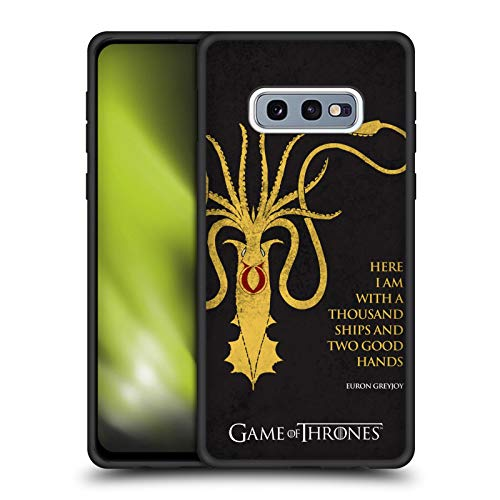 Head Case Designs Officially Licensed HBO Game of Thrones Euron Greyjoy Kraken Graphics Skinny Fit Hybrid Iced Case Compatible with Samsung Galaxy S10e