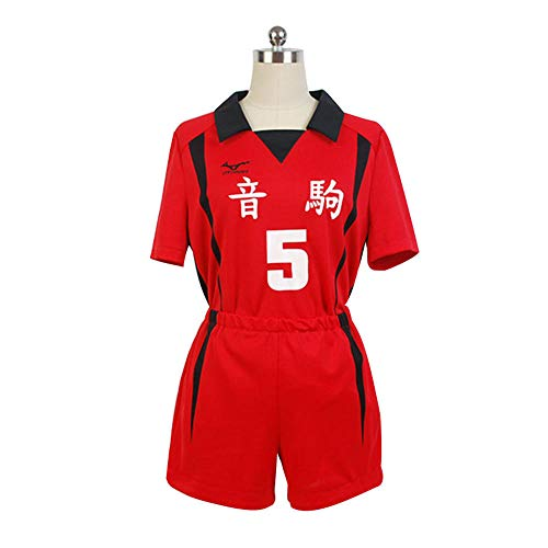 CHANGL Haikyuu !! Nekoma High School # 5 Kenma Kozume Cosplay Kostüm Team Trikot tragen Uniform Größe XS-XXL