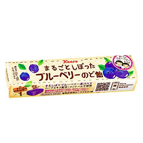 カンロ まるごとしぼったブルーベリーのど飴 11粒 ×10袋