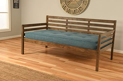 Cordova Futons Daybed Frame Twin Choice to add Trundle Rustic Walnut Wood Finish Lounger Best Futon Day Bed Sets (Rustic Walnut, Twin Frame w/Slats Only)