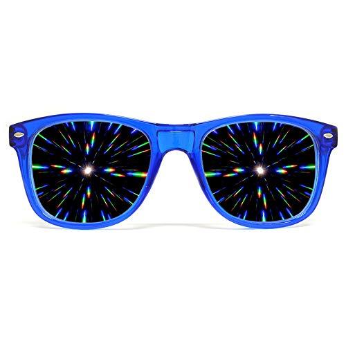 Ultimative Rave Brille mit Diffraktions-Effekt
