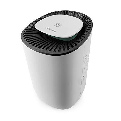 ecHome - Mini deumidificatore portatile compatto da 600 ml, per muffa umida, in casa, cucina, camera da letto, roulotte, ufficio, garage, bagno, cantina, bianco
