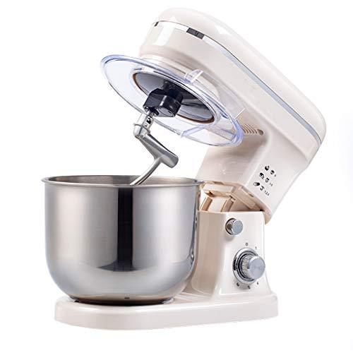 YUN HAI 6 Velocidades Batidora De Pie 4.2L 1000W Masa Mezclador Tranquila Kithchen Chef Máquina con Cabeza Inclinable Eléctrico Mezclador De Acero Inoxidable Bowl, El Gancho Amasador