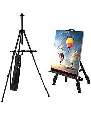 Tekshopping - Caballete trípode para pintar con soporte - Ideal para menús de restaurante, cuadro de bodas, pintura de tela, dibujante, pintor