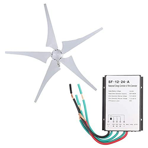 Turbine eoliche aerodinamiche, Bianco Micro Verticale Vento AC12or24 AC13.5or26.5 672mm con Pressofusione di Alluminio per Casa/Campeggio 12v