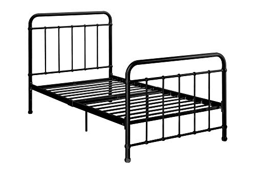 DHP Brooklyn Metal Iron Bed w/ Headboard and Footboard,...