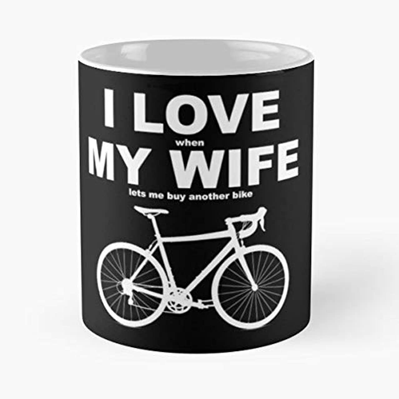 Love When My Wife Coffee Mugs Unique Ceramic Novelty Cup
