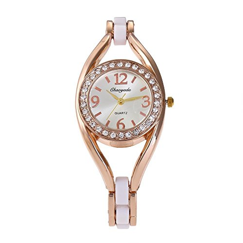 HWCOO Chaoyada Watch Fashion Trend Authentic Ladies Watch Personality disc Diamond Bracelet Watch Europe and The United States Quartz Watch (Color : 1)