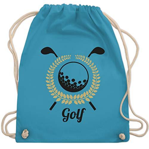 Shirtracer Golf - Lorbeerkanz Golfschläger Golfball - Unisize - Hellblau - orange golfbälle - WM110 - Turnbeutel und Stoffbeutel aus Baumwolle
