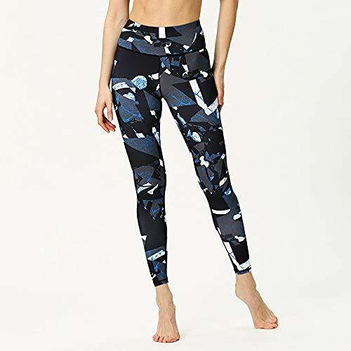 ArcherWlh Leggings Push Up,Nuevos Pantalones de Yoga Europea y Americana Femenino Impresión Digital Hips de Cintura Alta Deportes Pantalones de Aptitud Deportiva Ropa de Yoga al por mayor-Yh231_Metro
