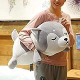 Husky Plush Pillow,Huskie Stuffed Animal Toy Puppy Throw Pillow for Kids,Valentine's Day,Christmas (29.5 inch)