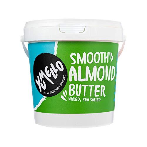 Yumello - Smooth Almond Butter 1kg – No Added Sugar, No Palm Oil, Vegan Friendly, Dairy Free – (1 x 1kg)