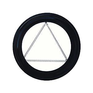 Wolfpack 22013290 – Plafon Embellecedor, Estufa Pellet, Vitrificado, Negro, 80 mm