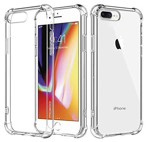 """MoKo iPhone 8 Plus / 7 Plus 5.5"""" Funda - Halo Serie Híbrido Funda con TPU Colchón de Aire Tecnología Esquinas + Panel Trasero Claro Parachoques Funda para iPhone 8 Plus / 7 Plus 5.5"""", Crystal Claro"""