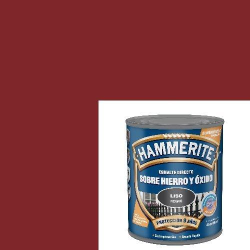 Hammerite 61755020228 Esmalte Metálico Liso Brillante Rojo Carruaje 750Ml, Multicolor