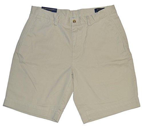 Polo Ralph Lauren Mens Chino Flat Front Shorts (Basic Sand, 36)