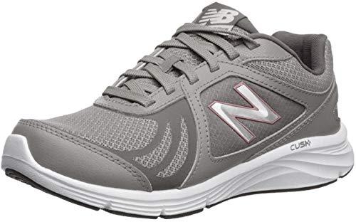 New Balance Women's 496 V3 Walking Shoe, Team Away Grey/Rose Gold, 7 M US