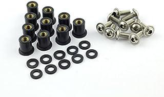10x Verkleidungsschrauben mit Gummimutter M6 Neopren für Verkleidungsscheibe sw schwarz
