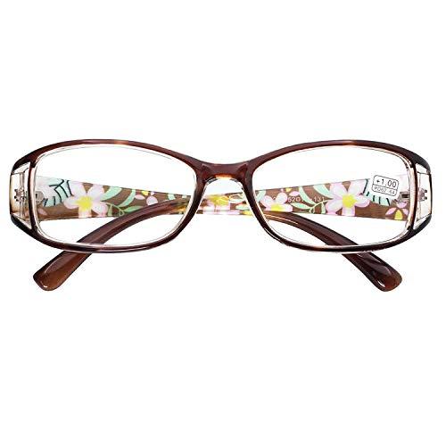 VEVESMUNDO Gafas de Lectura Mujeres Hombres Flores Grandes Ojo de Gato Calidad Vintage Retro Leer Graduadas Vista Presbicia Lejos 1.0 1.5 2.0 2.5 3.0 3.5 4.0 4.5 5.0 5.5 6.0