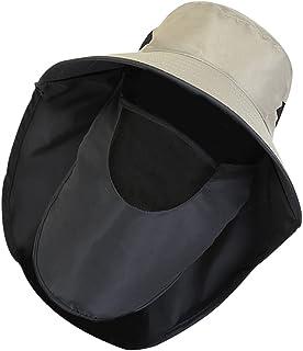 Lurrose ガーデニング 帽子 農作業 2WAY使い方 【360°UVカット・通気性抜群・撥水加工】UP+ サイズ調節可能 紫外線対策 ひよけ おしゃれ帽子 折りたたみ 男女兼用