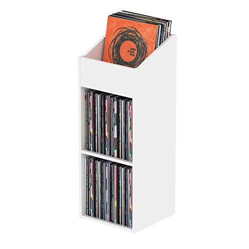 Glorious Record Rack 330 white - fortschrittliche Vinylstation mit 2-teiligem Layout, bis zu 330 Platten im 12''-Format, einfacher Aufbau, weiß