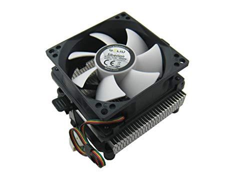 Gelid Solutions Siberian   Low Profile Luftkühler mit Premium Aluminium Kühlkörper   Geräuschloser 80mm PWM-Lüfter mit hohem Luftstrom   Kompatibel mit Intel und AMD