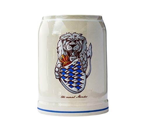 the casual MONKS Bierkrug Lion 0,5L mit Henkel