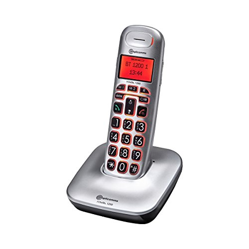 Schnurlos-Handy, großes Bildschirm, beleuchtete Tastatur, Direktwahl-Speichertaste, Hörgerät kompatibel, 21,5 x 11 x 11 cm