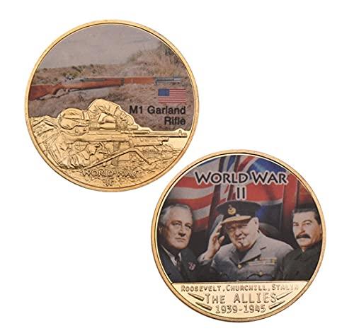 ZKPNV Monedas Conmemorativas Moneda Chapada En Oro Coleccionable Moneda De Metal De La Segunda Guerra Mundial Moneda Artesanal con Caja De Seguridad para Regalos De Empresa
