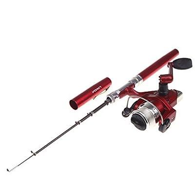 Lixada Aluminum Mini Retractable Pocket Pen Fishing Rod Pole with Fishing Reel&Fishing Line from Lixada