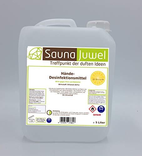Desinfektionsmittel für die Hände mit naturreinem ätherischem Zitronenöl (viruzid, bakterizid, fungizid) nach Vorgabe der WHO - 5 Liter