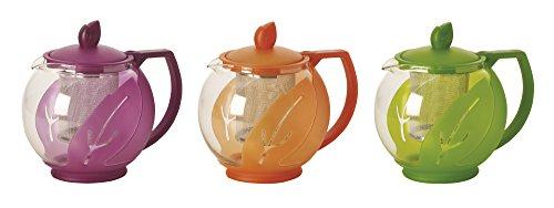 Excelsa Teekanne mit Filter, Kunststoff, Mehrfarbig