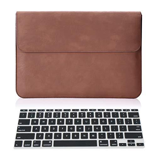 Aogek Microsoft Surface Pro 4 / Pro 3 12-Zoll-Laptop-Tasche, hochwertiges PU-Leder, Brieftaschen-Etui für Surface Pro 3/4, Acer Aspire Switch 11 V 11,6 Zoll & mehr, schwarz
