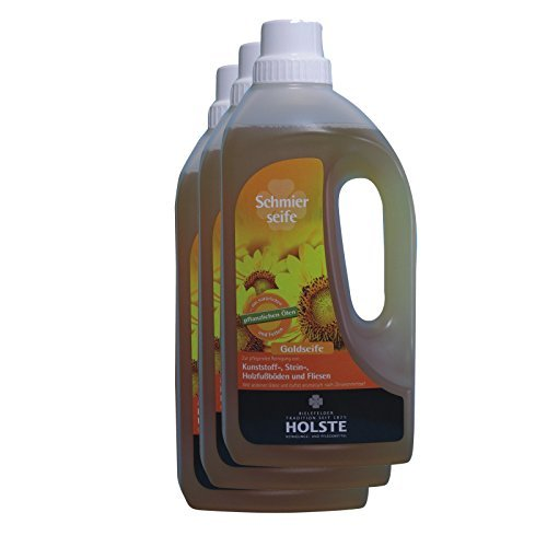 Sparpack HOLSTE Goldseife - flüssige Schmierseife 3 x 1 Liter by HOLSTE