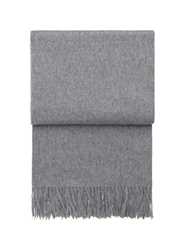 ELVANG - Leichte hellgraue Wolldecke mit 50% Alpaka, 130x200 cm