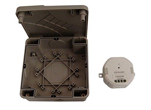 DiO Connected Home 54743 - Módulo de encendido/apagado y bloqueo impermeable (1000 W), color blanco y gris