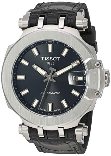 Tissot Mens T-Race Swiss Automatic Stainless Steel Sport Watch (Model: T1154071705100)