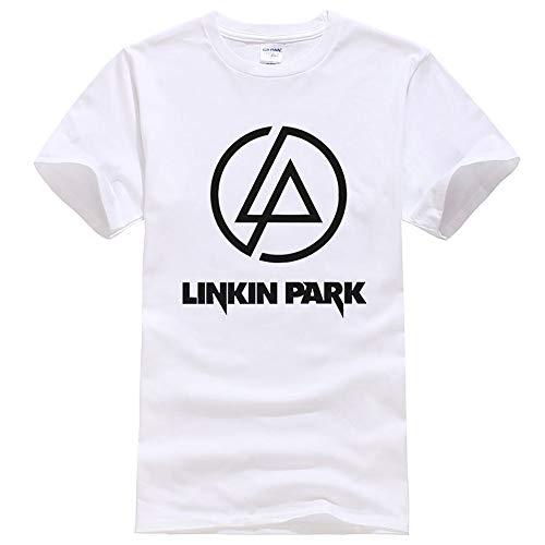 Linkin Park Camiseta Ocasionales adelgazan camiseta de manga corta de moda salvaje de los hombres y mujeres del collar redondo flojo Top Estudiante Tendencia de manga corta de la camiseta de la univer