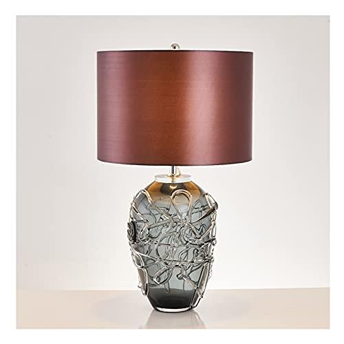 OUMIFA Lámpara de Mesa Lámpara de Mesa de Dormitorio Post-Moderno Sala de Estar Hotel de Lujo Lámpara de Escritorio de Cristal decoración Creativa lámpara de Noche esmaltada Grande Lámpara de Noche