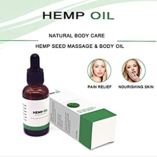 Hemp Seed Oil Drops 2000mg 1 FI OZ Hemp Oil Extract All Natural Drops 100% -Supports Overall Health, Improves Mood, Skin and Hair - Organic Hemp Oil is Rich in Omega 3, 6, 9