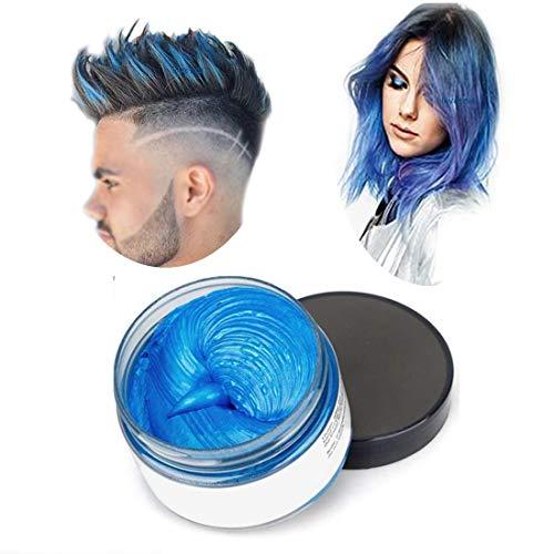 Cera del color del pelo, peinado mate natural para party.osplay, Halloween (Azul)