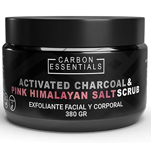Exfoliante Natural De Sal Rosa Del Himalaya Enriquecido Con Carbón Activado