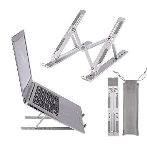Yhtech Modern Aleación de aluminio Equipo portátil Soporte de aluminio plegable For Macbook Pro Soporte Holder ajustable for portátil de escritorio Tablet Base Utilizado en espacio pequeño para coloca