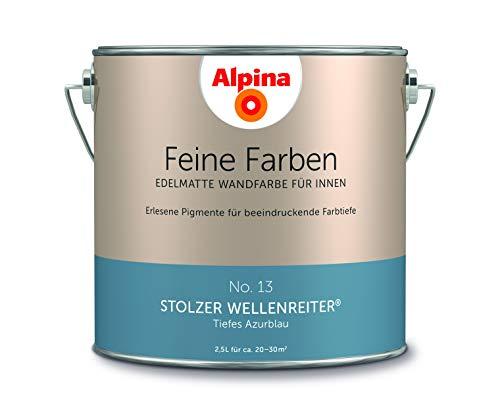 Alpina 2,5 L. Feine Farben, Farbwahl, Edelmatte Wandfarbe für Innen (No.13 Stolzer Wellenreiter - Ti