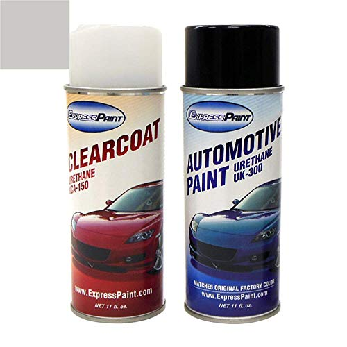 ExpressPaint Aerosol - Automotive Touch-up Paint for Honda Accord - Alabaster Silver Metallic NH-700M - All Inclusive Package