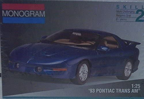 Monogram 2965 1993 Pontiac Trans Am - Plastic Model Kit - 1 25 Scale - Skill Level 2 by Monogram