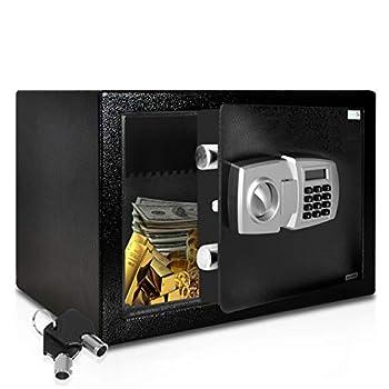 SereneLife DropBox Safe Box   Safes & Lock Boxes   Front Loading Safe Cash Vault Drop Lock   Safe Security Box   Digital Safe Box   Money Safe Box   Steel Alloy Drop Safe Includes Keys  SLSFE348