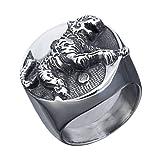 Retro Punk Tai Chi Tiger Ring Ring Anillo De Hombre Regalo De Fiesta Locomotora Accesorios De Hombre Joyería,9