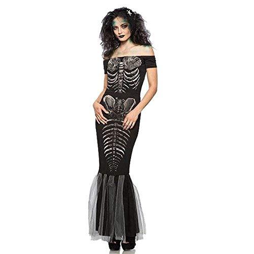 Fashion-Cos1 Halloween Hexe Kostüm Für Frauen Erwachsene Sexy Schwalbenschwanz Kleid Karneval Party Weiblichen Anzug Cosplay Kostüm (Size : XL)